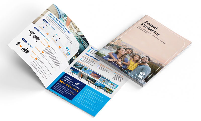 Travel Insurance Brochure Design
