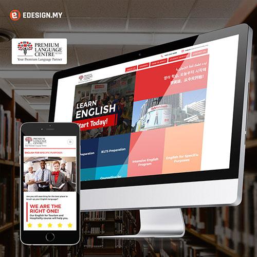 language center website design