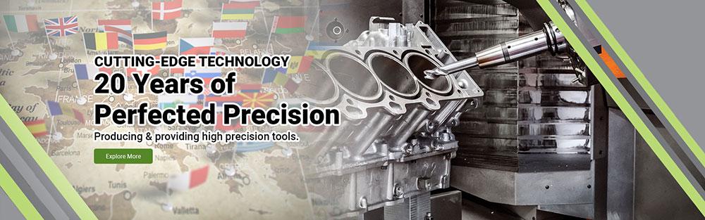 precision cutting tool banner design